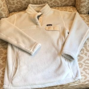 Patagonia Retool Snap Pullover ivory color sz XS